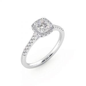טבעת אירוסין Halo Ring