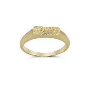 טביעת אצבע של אהוביך בטבעת זהב