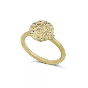 טבעת זהב 14k בעבודת יד