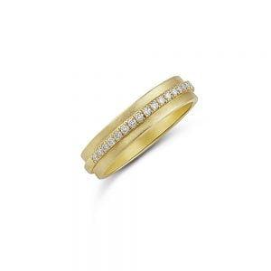 טבעת זהב 14k משובצת 20 יהלומים