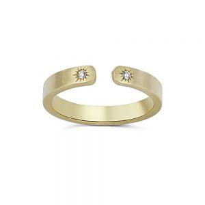 טבעת זהב מקורית משובצת יהלומים