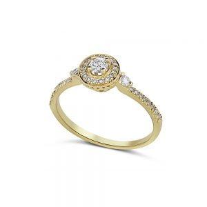 טבעת זהב וינטג׳ יהלומים