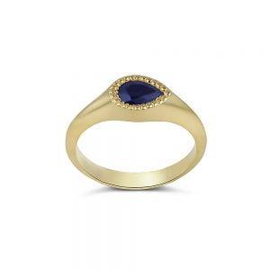 טבעת זהב 18k משובצת ספיר