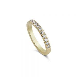 טבעת זהב ויהלומים F VS במשקל 0.30