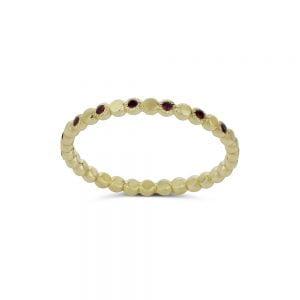 טבעת זהב 14k ואבני חן ספיר