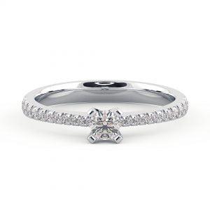 טבעת אירוסין זהב 14k ויהלומים